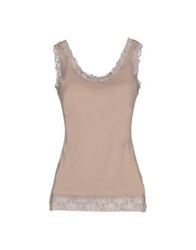 By Ti Mo Tank Tops Beige