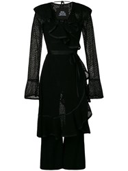 Marc Jacobs Layered Ruffle Jumpsuit Black