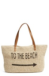 Straw Studios 'Conversation' Straw Tote Brown Beach