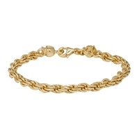 Emanuele Bicocchi Ssense Exclusive Gold Tiny Rope Bracelet