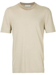 Gieves And Hawkes Round Neck T Shirt Brown