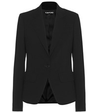 Tom Ford Cotton Blend Blazer Black