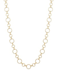 Charter Club Gold Tone Geometric Link Long Chain Necklace