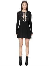 Just Cavalli Embellished Viscose Jersey Dress