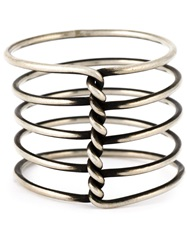 Ann Demeulemeester Twisted Multi Band Ring