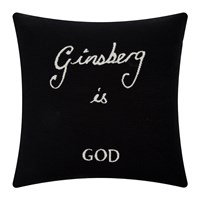 Bella Freud Ginsberg Is God Cushion Black