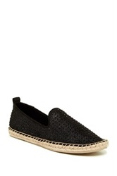 Kenneth Cole Reaction Boom Er Embellished Espadrille Flat Black