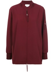 Alexander Wang T By Oversized Zipped Jacket Polyester Red