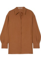 Agnona Wool And Cashmere Blend Shirt Brown