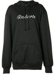 Rodarte Logo Hoodie Women Cotton Polyester S Black