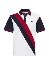 Raging Bull Big And Tall Double Stripe Polo Shirt White