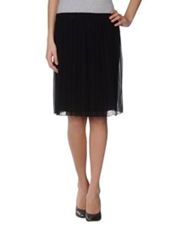 Fornarina Knee Length Skirts Black