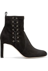 Jimmy Choo Mallory 85 Suede Ankle Boots Black