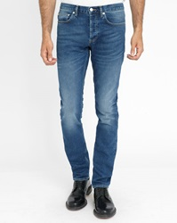 Sandro Faded Blue Pixies Washed Slim Fit Jeans