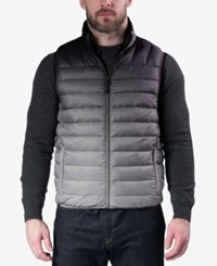 Hawke And Co. Outfitter Men's Weather Resistant Vest Ombre Black