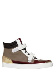 Louis Leeman Smooth And Suede Leather High Top Sneakers
