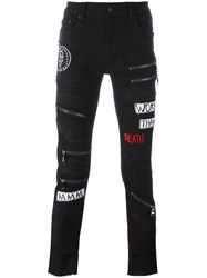Haculla Destroyed Effect Skinny Jeans Black