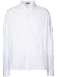 Lanvin Inverted Seam Long Sleeve Shirt Men Cotton 41 White