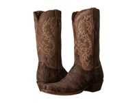 Lucchese Burke Chocolate Giant Alligator Caf Cowboy Boots Brown