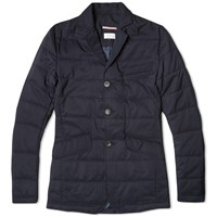 Apolis Quilted Blazer Blue