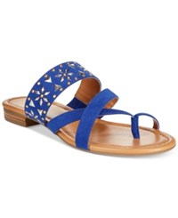 Styleandco. Style Co. Behati Embellished Flat Sandals Only At Macy's Women's Shoes Blue