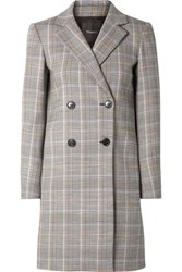 Theory Prince Of Wales Checked Wool Blend Blazer Gray