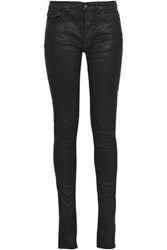 Rick Owens Drkshdw By Woman Coated Mid Rise Skinny Jeans Black