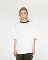 Marni Contrast Collar Tee Lily White