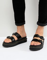 Dr. Martens Dr Myles Slide Sandals In Black
