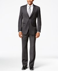 Tommy Hilfiger Charcoal Solid Classic Fit Suit