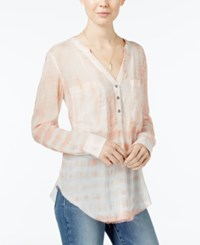 William Rast Selina Tie Dyed Blouse Shell Pink Tie Dye