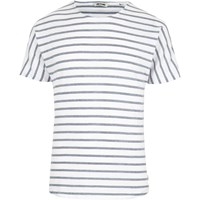 Only And Sons River Island Mens Blue Stripe Short Sleeve T Shirt