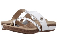 Aetrex Sandalista Lena Adjustable Thong White Women's Sandals