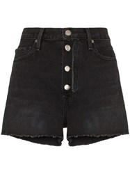 Frame Le Vintage Raw Trim Shorts Black
