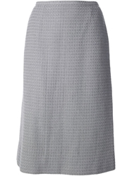 Chanel Vintage Boucle Tweed Skirt Grey
