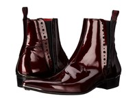 Jeffery West Chelsea Boot Charcoal Metal Wine Men's Boots Brown