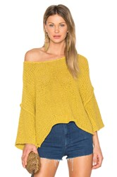 Free People Halo Pullover Yellow