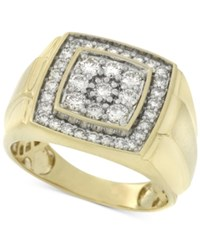 Macy's Men's Diamond Cluster Ring 1 Ct. T.W. In 10K Gold White