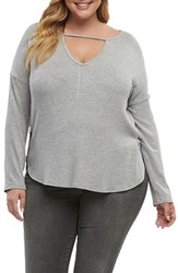 Tart Plus Size Women's Trinity Top Heather Grey