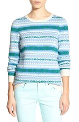 Women's Vineyard Vines 'Snowflake' Fair Isle Sweater Capri Blue