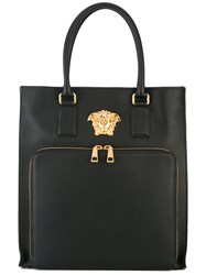 Versace Palazzo Medusa Shopper Tote Men Leather One Size Black