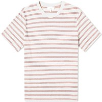 Save Khaki Vintage Stripe Crew Tee White