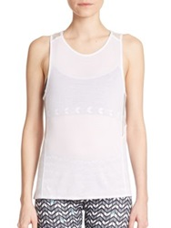 Alo Yoga Sheer Panel Tank White
