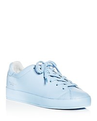 Rag And Bone Women's Perforated Leather Lace Up Platform Sneakers Chambray
