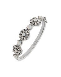 Marchesa Crystal Bangle Bracelet Silver