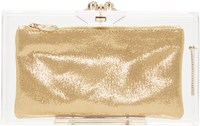 Charlotte Olympia Clear Perspex Pandora Clutch