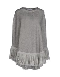 Angela Mele Milano Capes And Ponchos Grey