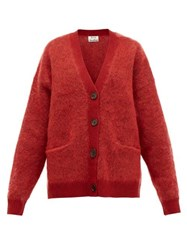 Acne Studios Rives Buttoned Cardigan Burgundy