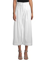 Kendall Kylie Cropped Wide Leg Pants Bright White