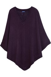 Splendid Knitted Poncho Purple